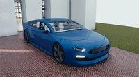 3D car blender eevee brandless model