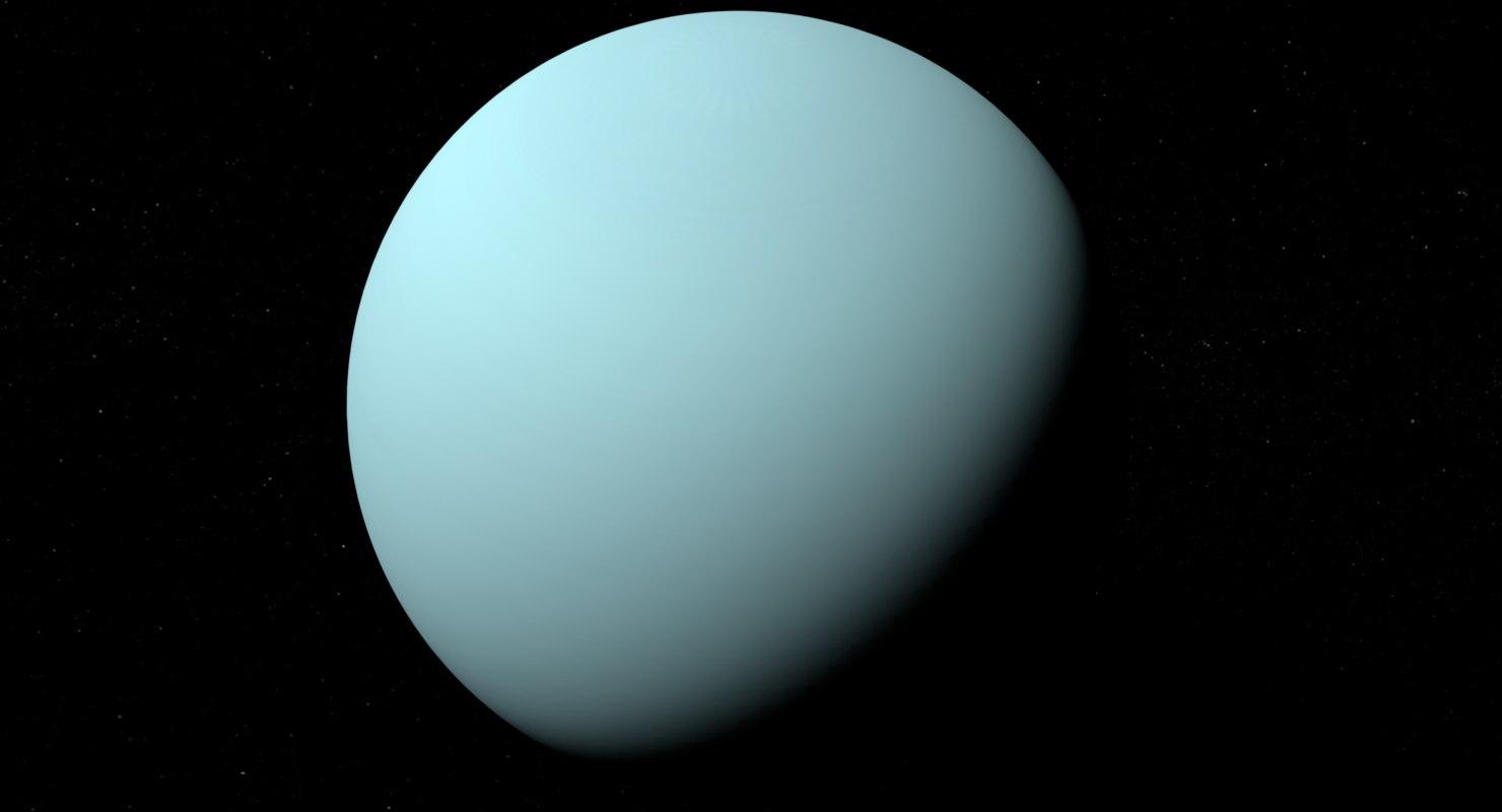 3D stylized planet uranus