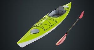 3D kayak 2 model