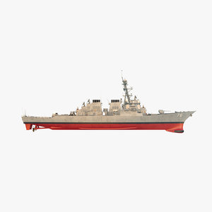 uss higgins ddg 3D model