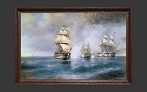 wooden frame painting 3D