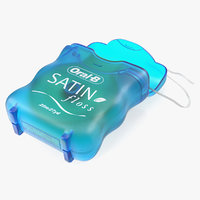 open dental floss oral 3D model
