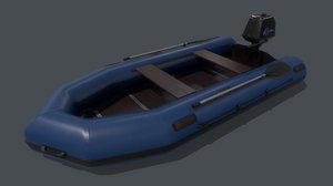 pbr inflatable boat 3D model