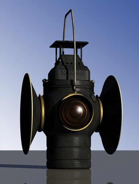 3D railroad switch lamp adlake model
