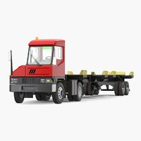 Terminal Tractor with Semi Trailer