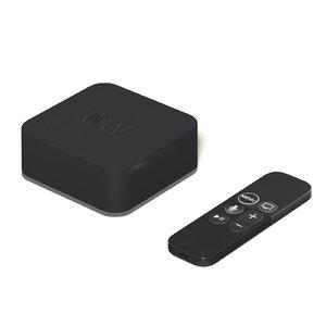 apple tv remote 3D model