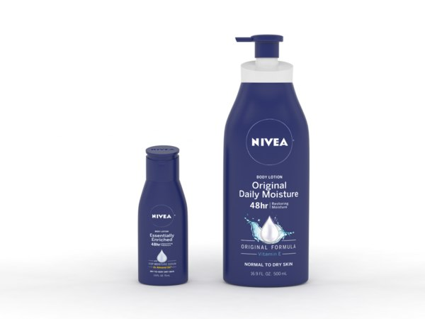 3D nivea body lotion model
