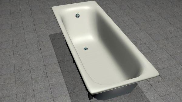 steel bath 3D model