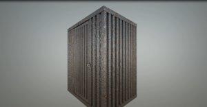 3D cage door model