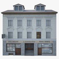 facade building 3D