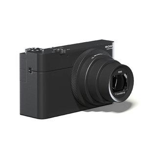 black photo camera 3D model