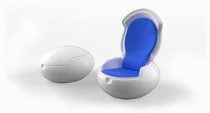 3D sessel garden egg chair