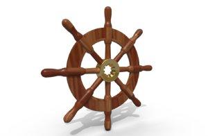 ship s wheel 3D model