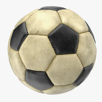 3D soccer ball dirty