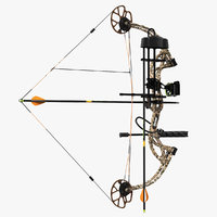 Armed Hunting Compound Bow Bear Cruzer G2 Camo 3D Model