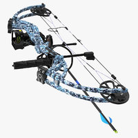 Compound Bow Generic 3D Model