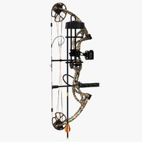 hunting compound bow bear 3D model