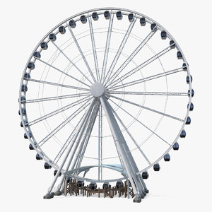 seattle great ferris wheel 3D