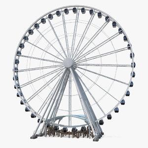 seattle great ferris wheel 3D