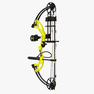 yellow compound bow bear model