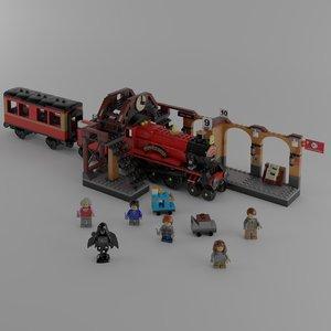 hogwarts lego 3D model