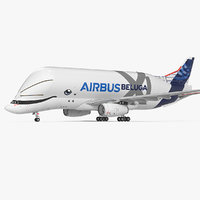 Airbus Beluga XL Large Transport Aircraft 3D Model