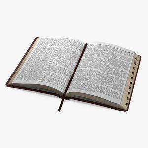holy bible open book 3D