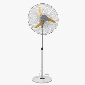 3D floor standing fan