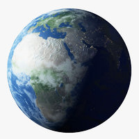 3D realistic earth planet