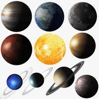 Solar System Sun and Planets Collection
