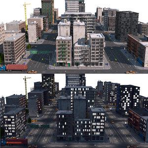 3D model city a1 day night