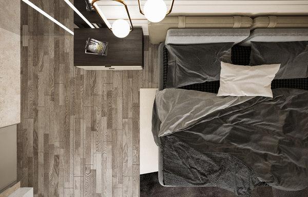 3D modern bedroom scene
