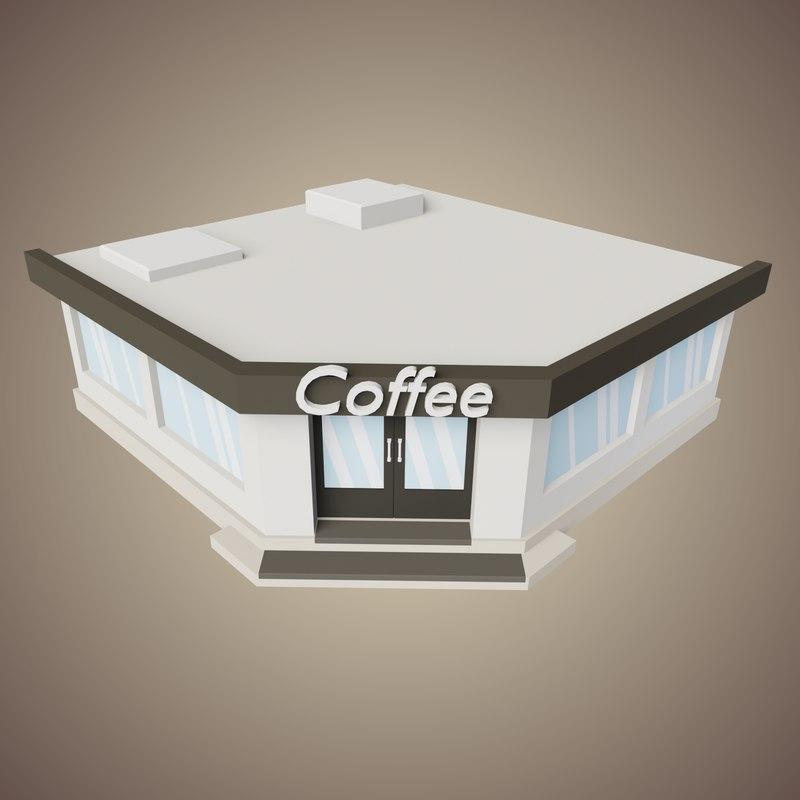 3D coffee shop model