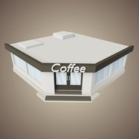 Coffee Shop Low Poly