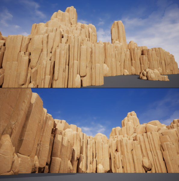 3D model pack rocks stones nature