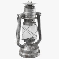 Rusted Lantern Hurricane Oil Lamp