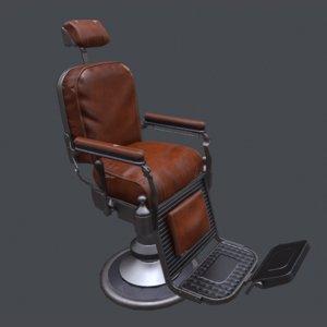 3D barbershop chair model