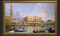 3D golden frame painting oil