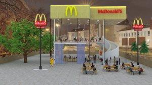 mcdonald s restaurant 3D model