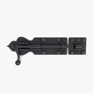 deadbolt lock 02 3D model