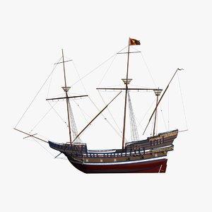 3D war ship venice