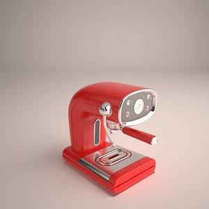 3D coffeemaker expresso model