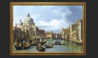 golden frame painting oil 3D