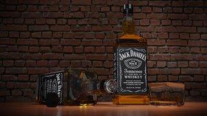 jack daniel s bottle 3D model