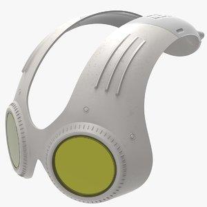 sci fi sunglasses 3D model