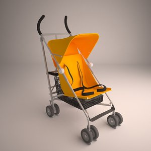 3D stroller child model