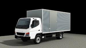 3D mitsubishi fuso truck