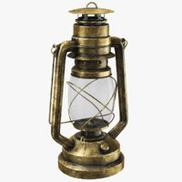 kerosene lantern modeled 3D model