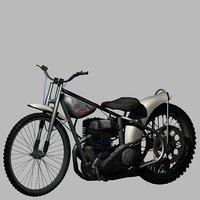 3D model jawa speedway bike