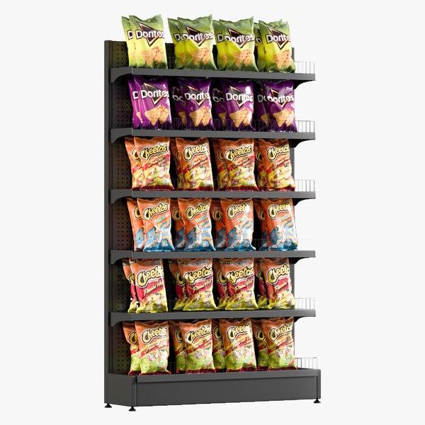 chips shelving 2 3D